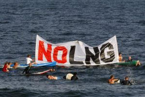 Port Ambrose LNG protest