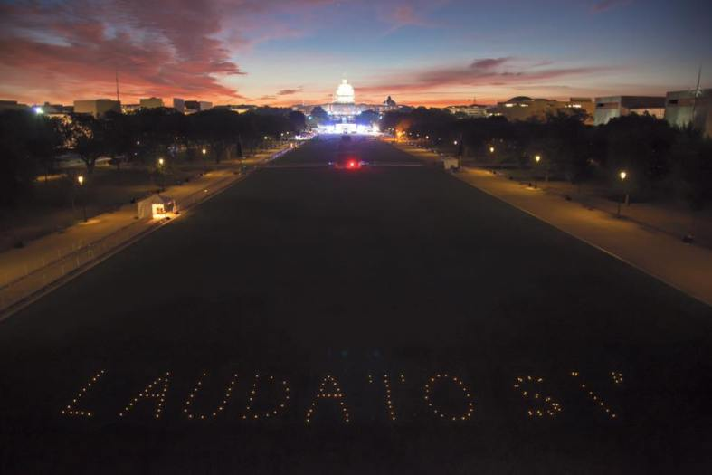 BXE participated in an action organized through interfaith groups at sunrise on the national mall where Pope Francis' would later address thousands of citizens